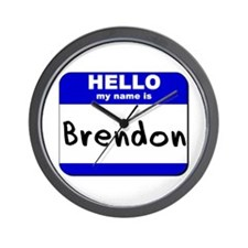 hello my name is brendon  Wall Clock