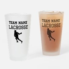 (Team Name) Lacrosse Drinking Glass