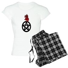 Red Dragon on Pentacle pajamas