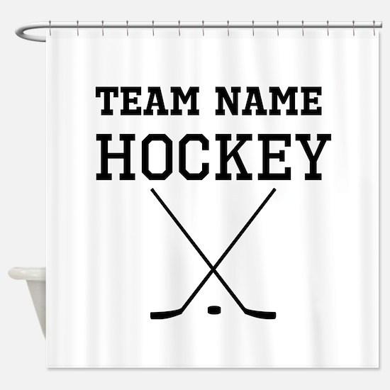 (Team Name) Hockey Shower Curtain