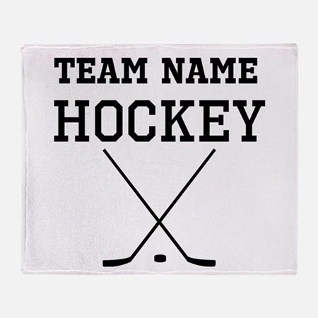 (Team Name) Hockey Throw Blanket