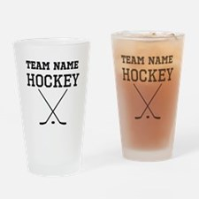 (Team Name) Hockey Drinking Glass