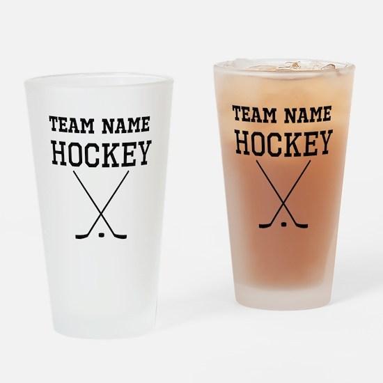 (Team Name) Hockey Drinking Glass