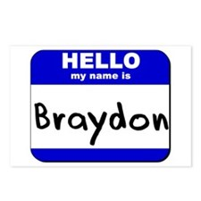 hello my name is braydon  Postcards (Package of 8)