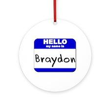 hello my name is braydon  Ornament (Round)