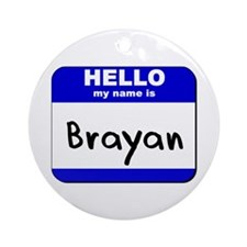 hello my name is brayan  Ornament (Round)