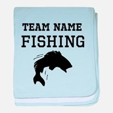 (Team Name) Fishing baby blanket