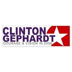 Clinton-Gephardt Bumper Bumper Sticker