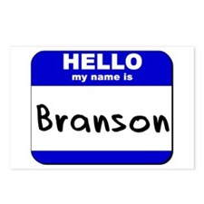 hello my name is branson  Postcards (Package of 8)