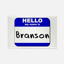 hello my name is branson Rectangle Magnet