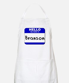 hello my name is branson  BBQ Apron