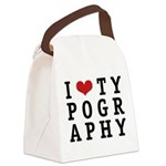 iheartypo.png Canvas Lunch Bag