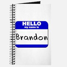 hello my name is brandon Journal