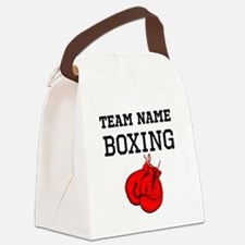 (Team Name) Boxing Canvas Lunch Bag