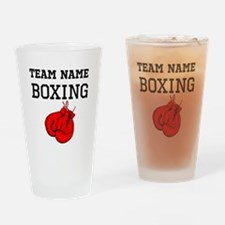 (Team Name) Boxing Drinking Glass