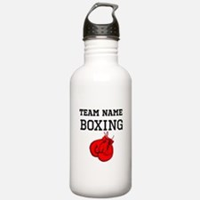 (Team Name) Boxing Sports Water Bottle