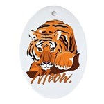 Meow With Attitude Oval Ornament