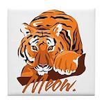 Meow With Attitude Tile Coaster