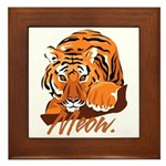 Meow With Attitude Framed Tile