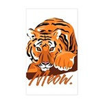 Meow With Attitude Rectangle Sticker
