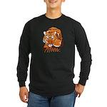 Meow With Attitude Long Sleeve Dark T-Shirt