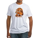 Meow With Attitude Fitted T-Shirt