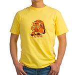 Meow With Attitude Yellow T-Shirt
