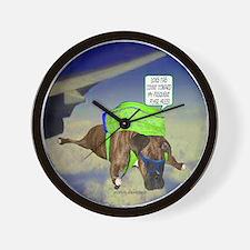 Briendel Boxer Skydiving Wall Clock