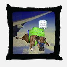 Briendel Boxer Skydiving Throw Pillow