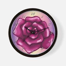 Beautiful Painted Rose Wall Clock