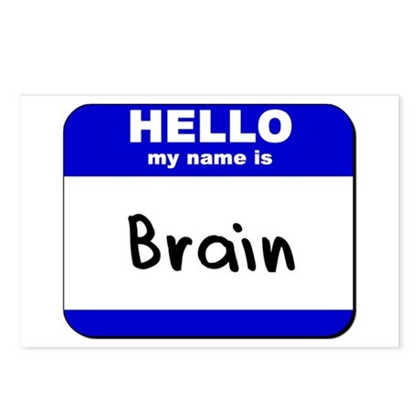 hello my name is brain Postcards (Package of 8)