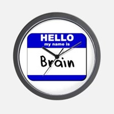 hello my name is brain  Wall Clock
