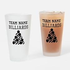 (Team Name) Billiards Drinking Glass