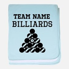 (Team Name) Billiards baby blanket
