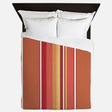 Summertime Melon Stripe Queen Duvet
