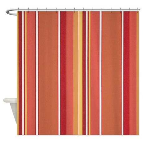 Awesome Summertime Melon Stripe Shower Curtain
