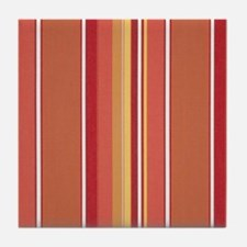 Summertime Melon Stripe Tile Coaster