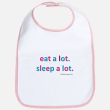 EAT A LOT SLEEP A LOT BIB
