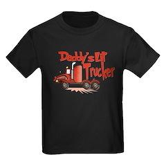 Daddys Lil' Trucker Kids Dark T-Shirt