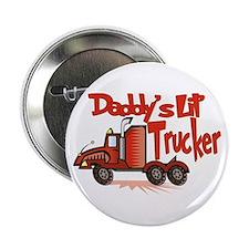 """Daddys Lil' Trucker 2.25"""" Button"""