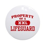 Property of a Lifeguard Ornament (Round)