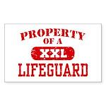 Property of a Lifeguard Rectangle Sticker