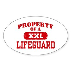 Property of a Lifeguard Oval Decal