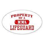 Property of a Lifeguard Oval Sticker