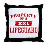 Property of a Lifeguard Throw Pillow