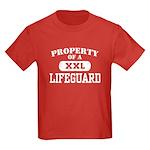 Property of a Lifeguard Kids Dark T-Shirt