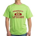 Property of a Lifeguard Green T-Shirt