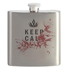 Keep Calm Bloody Shirt Flask