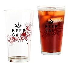 Keep Calm Bloody Shirt Drinking Glass