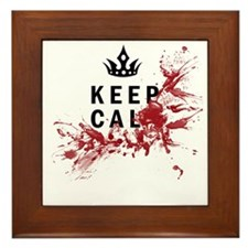 Keep Calm Bloody Shirt Framed Tile